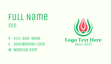 Lily Flower Garden Business Card
