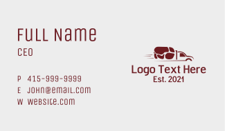 Pork Meat Delivery Business Card
