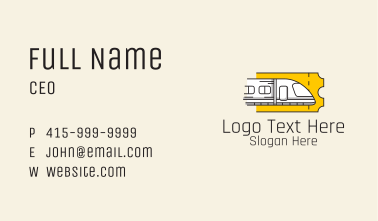Bullet Train Ticket  Business Card