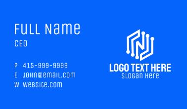 Letter N Digital Software  Business Card