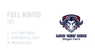 Buffalo Bull Mascot Business Card