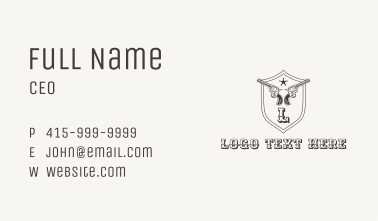 Wild West Gun Letter Business Card