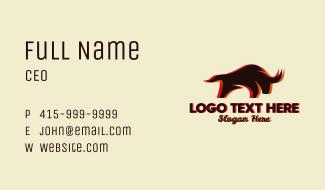 Charging Bull Restaurant Business Card