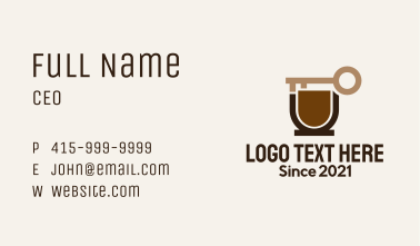 Coffee Cup Key Business Card