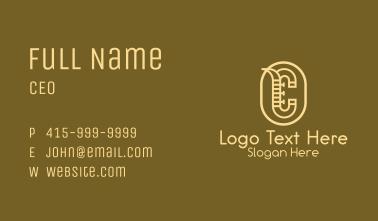 Letter C Saxophone Business Card