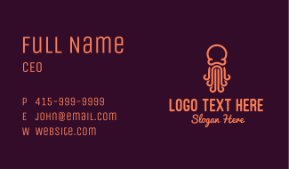 Orange Octopus Business Card