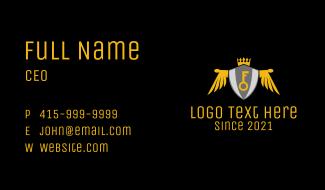 Royal Key Crest Business Card