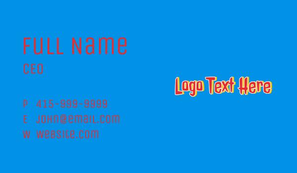 word - Halloween Gamer Wordmark Business card horizontal design