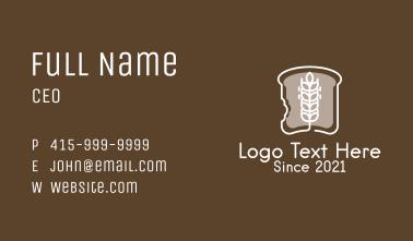 Wheat Bread Slice Business Card