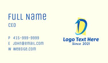Letter D Entertainment Business Card