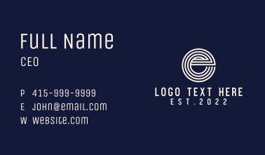 Stripe Letter E Business Card