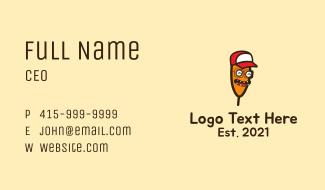 Corn Dog Mascot Business Card