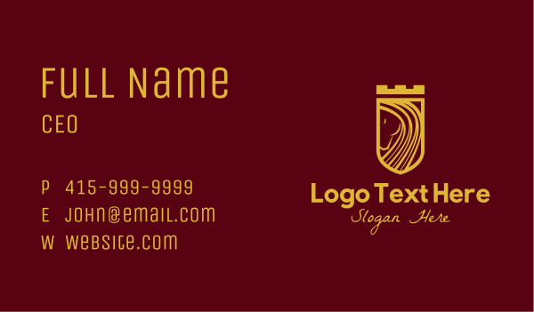 mule - Gold Stallion Castle Business card horizontal design