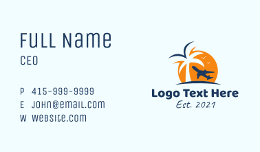 Island Travel Agency Business Card
