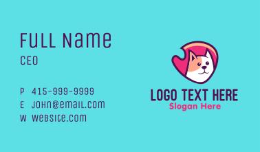 Happy Cute Pet Cat Badge Business Card