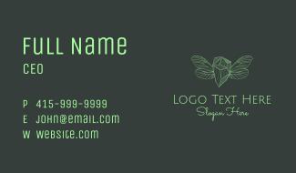 Green Wing Gem Business Card