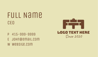 Brick Gym Barbell Business Card