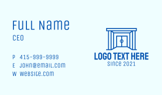 Sports Arena Entrance Business Card