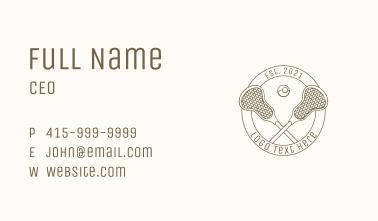 Monoline Lacrosse Equipment Badge Business Card