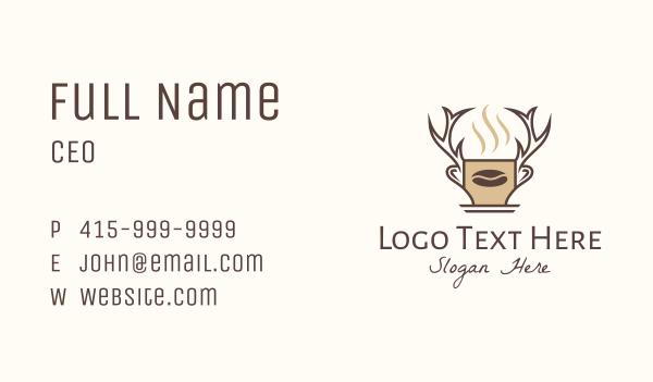 mocha - Deer Brewed Coffee Business card horizontal design