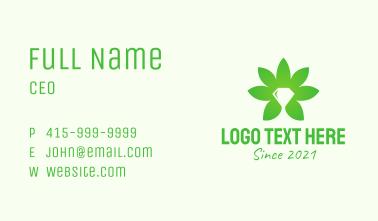 Diamond Cannabis Leaf  Business Card