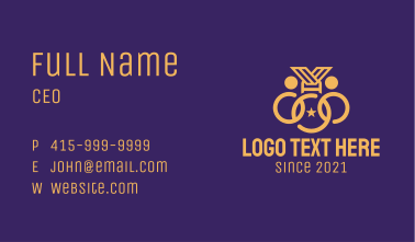 Gold Medal Ceremony Business Card