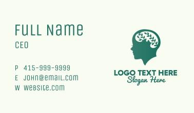 Green Natural Mind  Business Card