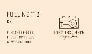 Retro Camera Photography Business Card