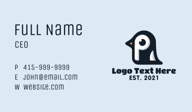 Penguin Letter P Business Card