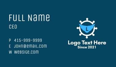 Nautical Ship Wheel Letter  Business Card