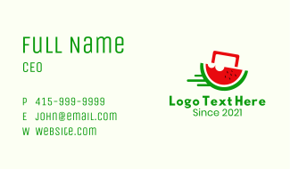 Watermelon Fruit Delivery Business Card