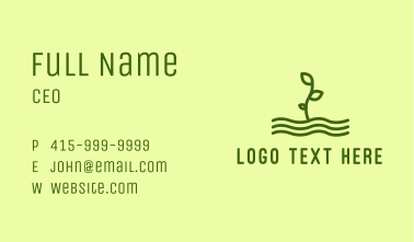 Green Plant Seedling  Business Card
