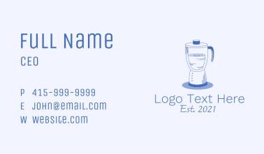 Multipurpose Blender Line Art Business Card