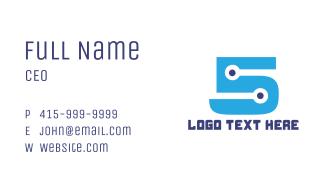Dot Number 5 Business Card