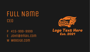 Fast Flame Car Business Card