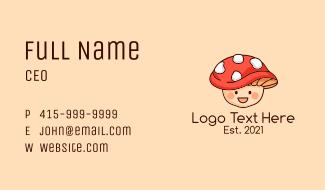 Mushroom Hat Kid Business Card