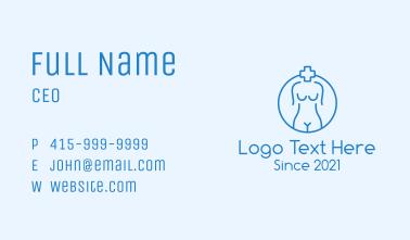 Medical Female Anatomy Business Card