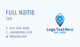 Security Padlock Location Business Card