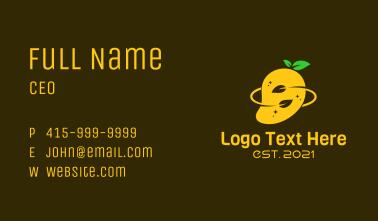 Organic Mango Fruit Business Card