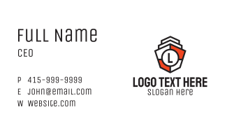 Heraldic Shield Letter Business Card
