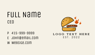 Spicy Beef Burger  Business Card