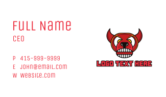 Red Angry Bull Business Card