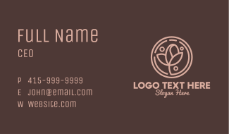 Coffee Bean Plant Leaf Business Card