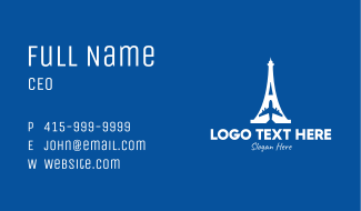 French Airline Business Card