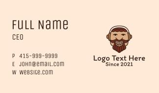 Man Beard Mascot  Business Card
