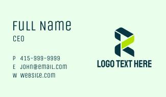 Technician Letter R  Business Card