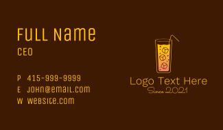 Cold Orange Drink Business Card