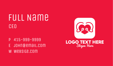 Heart Care Mobile App Business Card