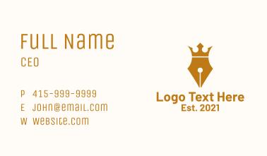 Royal Crown Pen Business Card