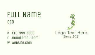 Gardener Plant Farming Business Card